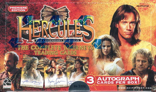 Hercules The Complete Journeys Premiere Card Box 40 Packs Rittenhouse 2001   - TvMovieCards.com
