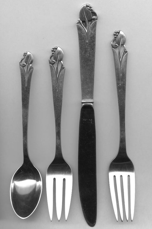 Woodlily 4pc Setting by Frank Smith Sterling Silver Modern   - TvMovieCards.com