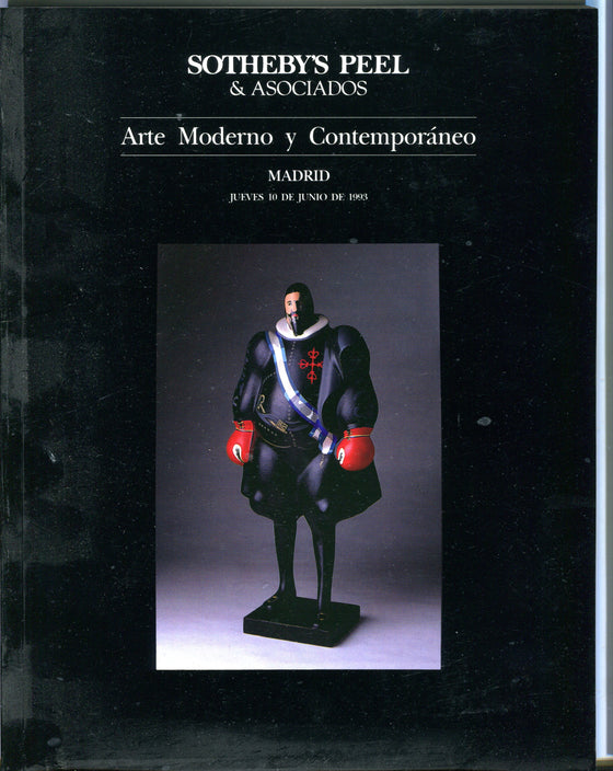 Sothebys Auction Catalog June 10 1993 Modern & Contemporary Art