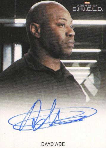 Agents of S.H.I.E.L.D. Season 1 Dayo Ade Autograph Card   - TvMovieCards.com
