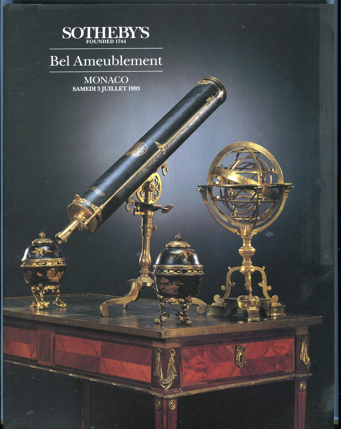 Sothebys Auction Catalog July 3 1993 Bel Ameublement Monaco