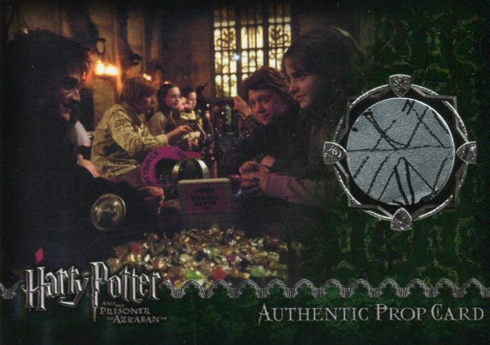 Harry Potter Prisoner Azkaban Spindle's Lick O Rish Spiders Prop Card HP #49/70 Front