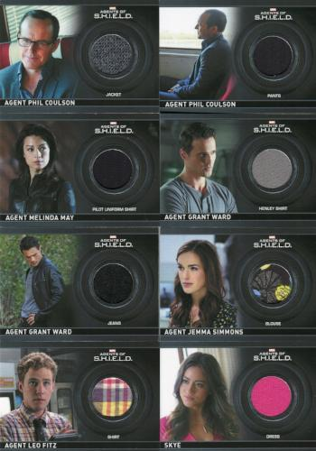 Agents of S.H.I.E.L.D. Season 1 Costume Card Set 19 Cards   - TvMovieCards.com