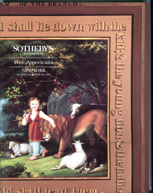 Sothebys Auction Catalog Oct 24 1993 Fine Americana   - TvMovieCards.com