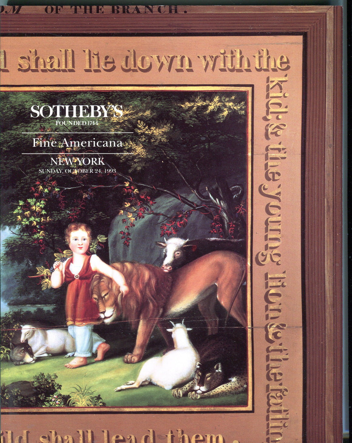Sothebys Auction Catalog Oct 24 1993 Fine Americana