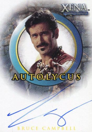 Xena The Quotable Xena Bruce Campbell as Autolycus Autograph Card A38   - TvMovieCards.com