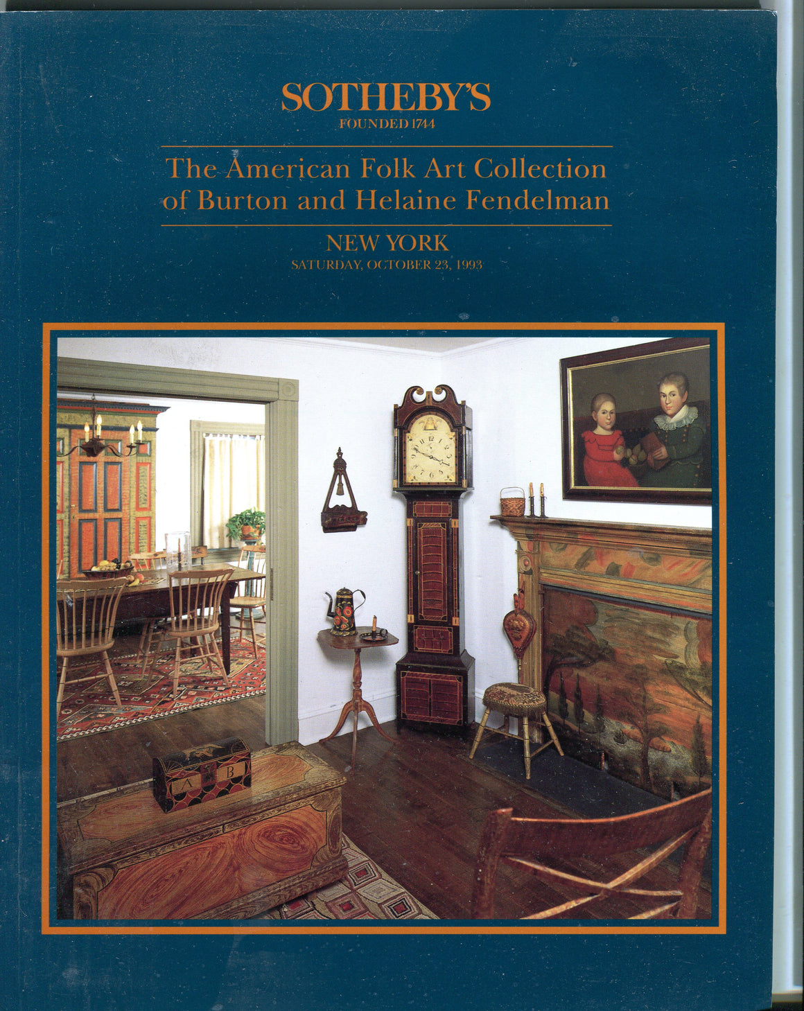 Sothebys Auction Catalog Oct 23 1993 American Folk Art Burton Helaine Fendelman