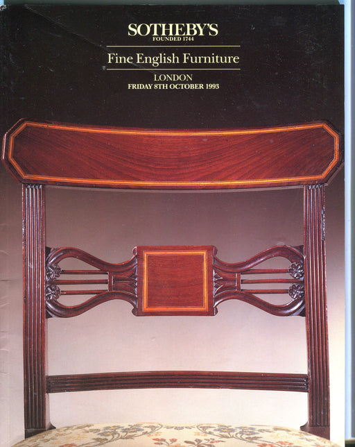 Sothebys Auction Catalog Oct 8 1993 Fine English Furniture   - TvMovieCards.com