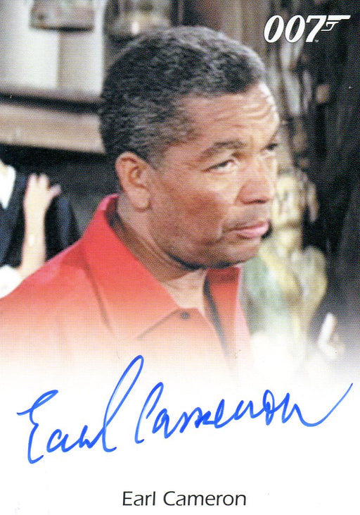 James Bond Mission Logs Earl Cameron as Pinder Autograph Card   - TvMovieCards.com
