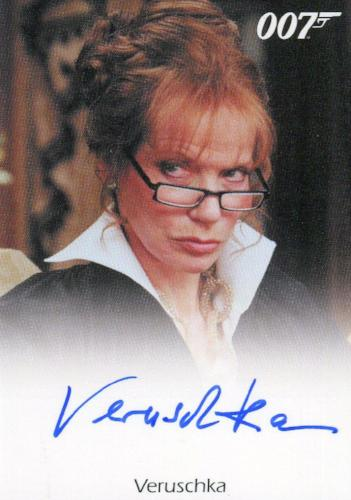 James Bond 50th Anniversary Series One Verushchka Autograph Card   - TvMovieCards.com