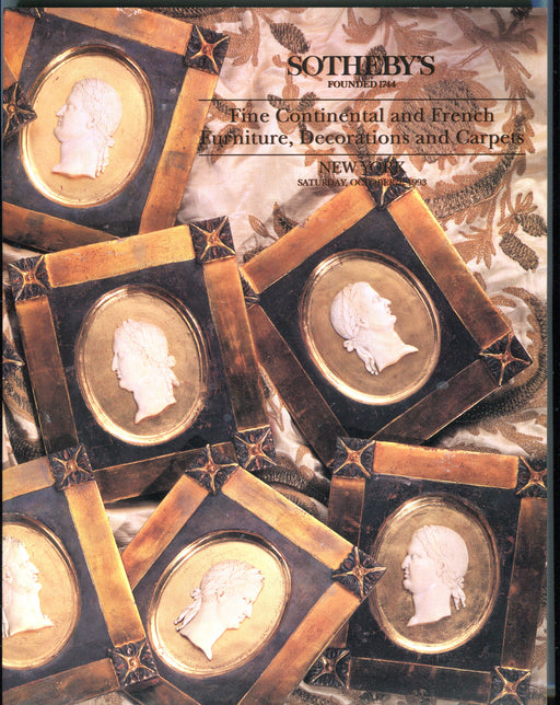 Sothebys Auction Catalog Oct 2 1993 Continental French Furniture Decorations   - TvMovieCards.com