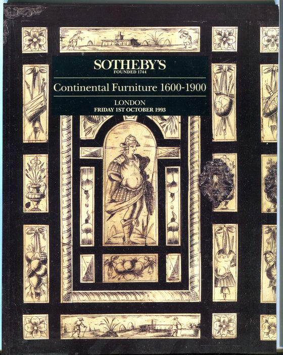 Sothebys Auction Catalog Oct 1 1993 Continental Furniture 1600-1900
