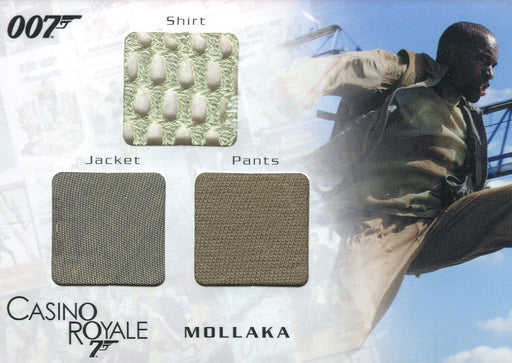 James Bond in Motion 2008 Mollaka Triple Costume Card TC02 #0539/1300   - TvMovieCards.com
