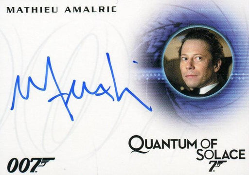 James Bond Archives 2015 Edition Mathieu Amalric Autograph Card A273   - TvMovieCards.com
