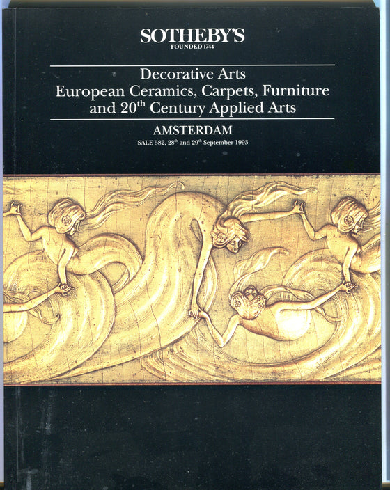 Sothebys Auction Catalog Sept 29 1993 Decorative Arts Carpets Furniture