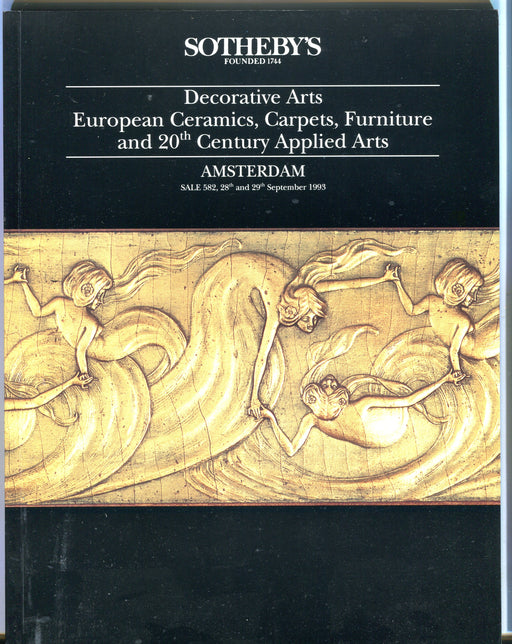 Sothebys Auction Catalog Sept 29 1993 Decorative Arts Carpets Furniture   - TvMovieCards.com