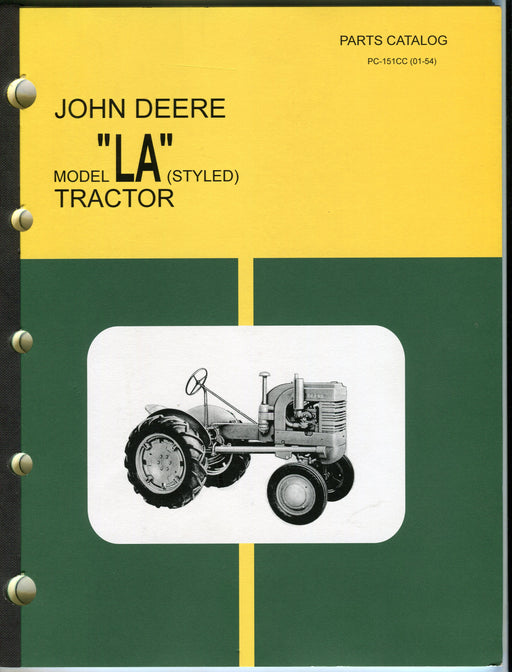 "Vintage John Deere Model ""LA"" (Styled) Dealer Parts Catalog PC-151CC (01-54)   - TvMovieCards.com"
