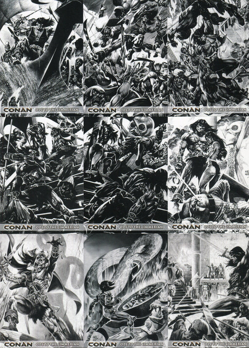 Conan Art of the Hyborian Age Ode to Cimmerian Chase Card Set C1 thru C12   - TvMovieCards.com