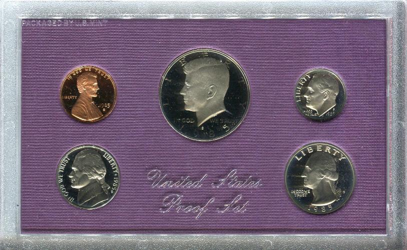 United States Mint Proof Coin Set 1985   - TvMovieCards.com
