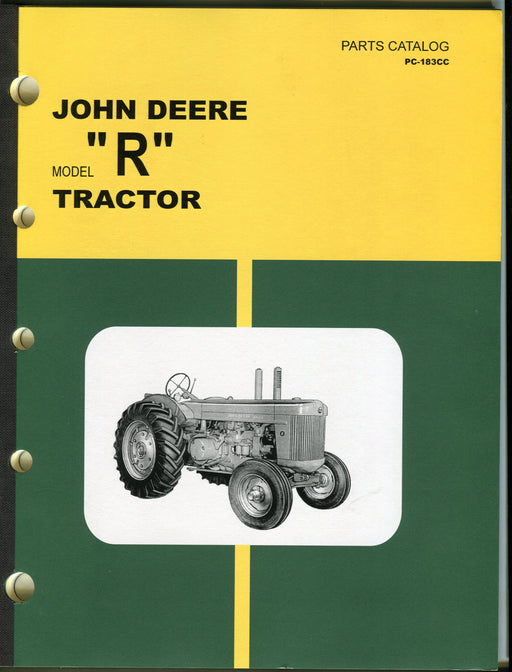 "Vintage John Deere Model ""R"" Tractor Dealer Parts Catalog PC-183CC   - TvMovieCards.com"