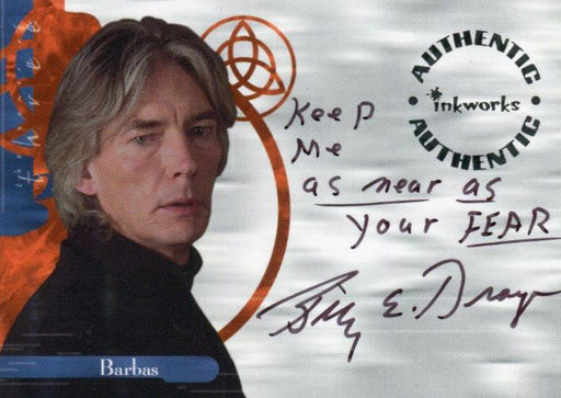 Charmed The Power of Three Billy Drago as Barbas Autograph Card A11 Variant #1   - TvMovieCards.com