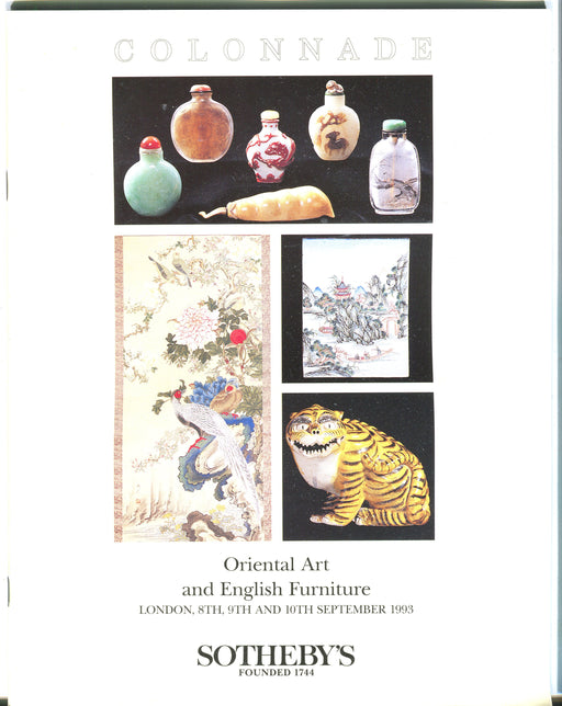 Sothebys Auction Catalog Sept 10 1993 Oriental Art & English Furniture   - TvMovieCards.com