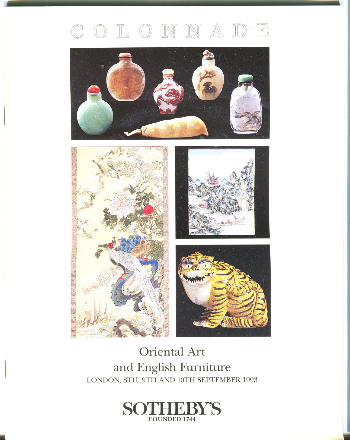 Sothebys Auction Catalog Sept 10 1993 Oriental Art & English Furniture
