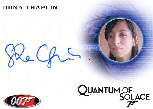 James Bond Archives 2014 Edition Oona Chaplin Autograph Card A246   - TvMovieCards.com