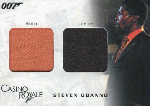 James Bond in Motion 2008 O'Banno Double Costume Card DC07 #1231/1250   - TvMovieCards.com