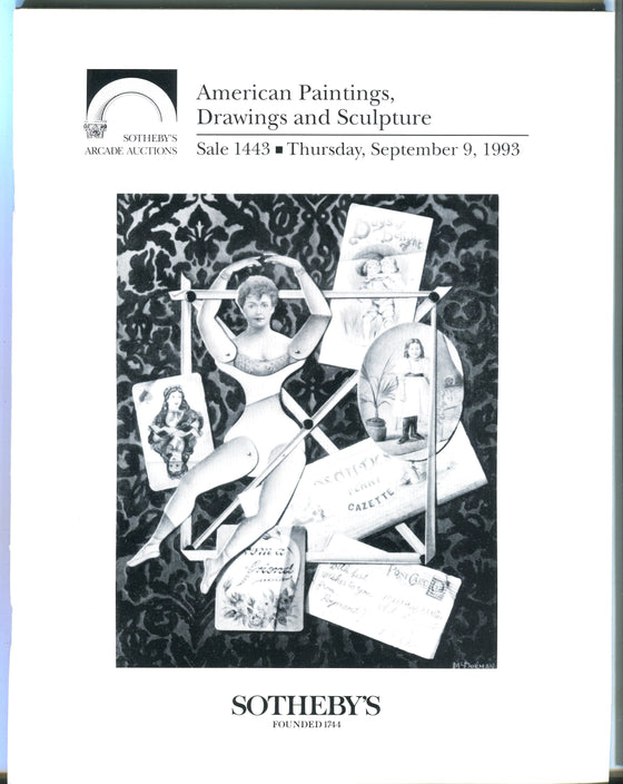 Sothebys Auction Catalog Sept 9 1993 American Paintings Drawings & Sculpture