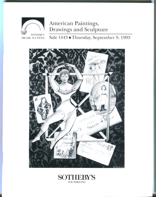 Sothebys Auction Catalog Sept 9 1993 American Paintings Drawings & Sculpture   - TvMovieCards.com
