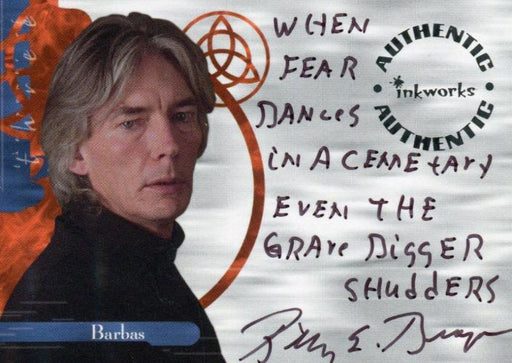 Charmed The Power of Three Billy Drago as Barbas Autograph Card A11 Variant #4   - TvMovieCards.com