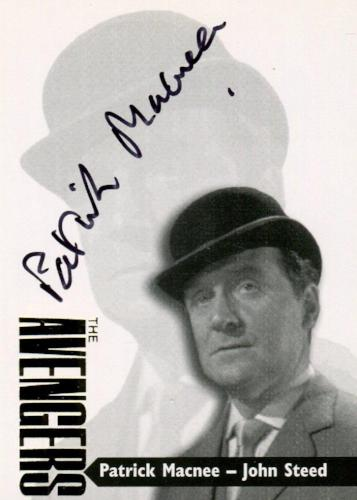 Avengers TV Series 3 Gold Additions Patrick Macnee John Steed Autograph Card AV3-1   - TvMovieCards.com