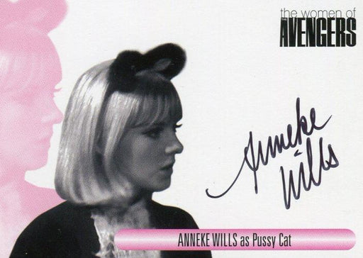 Avengers TV The Women Anneke Wills as Pussy Cat Autograph Card WAAW   - TvMovieCards.com