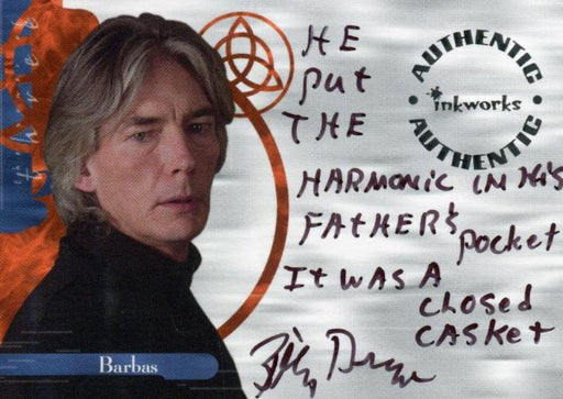 Charmed The Power of Three Billy Drago as Barbas Autograph Card A11 Variant #5   - TvMovieCards.com