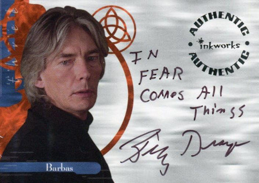 Charmed The Power of Three Billy Drago as Barbas Autograph Card A11 Variant #6   - TvMovieCards.com