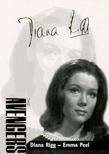 Avengers TV Series 3 Gold Additions Diana Rigg Fascimilie Autograph Card AV3-4   - TvMovieCards.com
