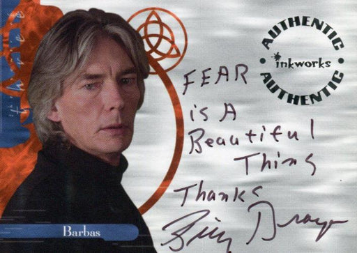 Charmed The Power of Three Billy Drago as Barbas Autograph Card A11 Variant #7   - TvMovieCards.com