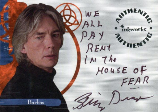Charmed The Power of Three Billy Drago as Barbas Autograph Card A11 Variant #8   - TvMovieCards.com