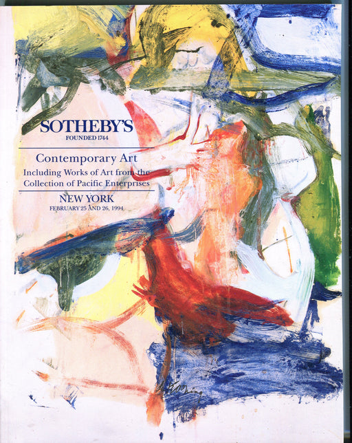 Sothebys Auction Catalog Feb 25 1994 Contemporary Art from Pacific Enterprises   - TvMovieCards.com