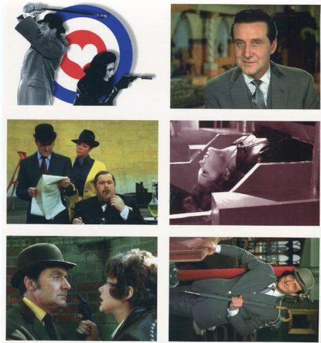 Avengers TV Return Uncut 6 Card Panel/Sheet #1   - TvMovieCards.com