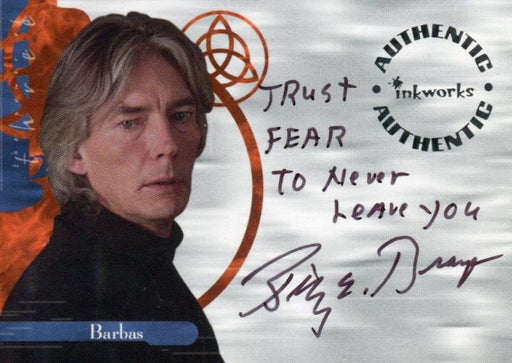 Charmed The Power of Three Billy Drago as Barbas Autograph Card A11 Variant #9   - TvMovieCards.com
