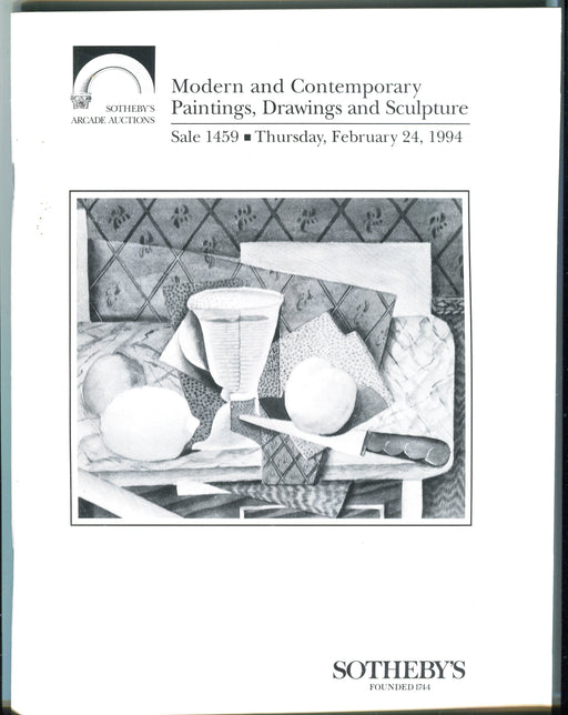 Sothebys Auction Catalog Feb 24 1994 Modern & Contemporary Paintings Drawings   - TvMovieCards.com