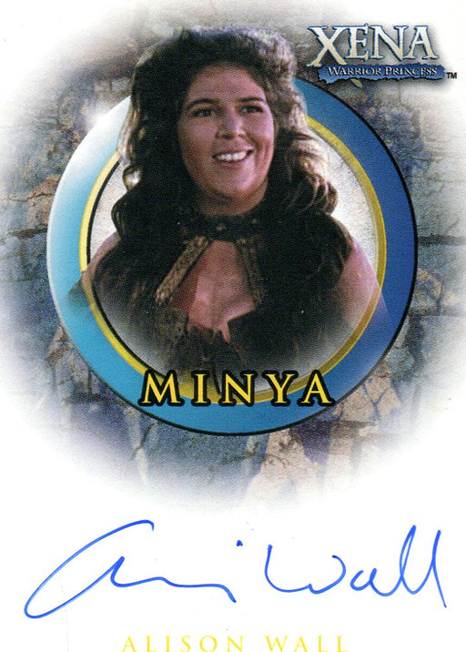 Xena Art & Images Alison Wall as Minya Autograph Card A54   - TvMovieCards.com