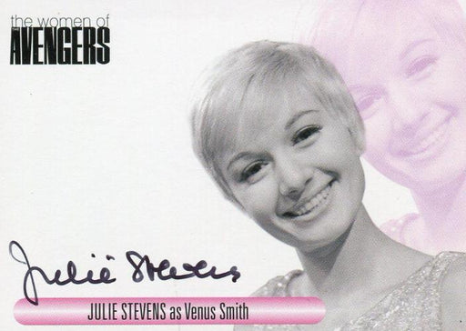 Avengers TV Women Julie Stevens as Venus Smith Autograph Card WAJS   - TvMovieCards.com