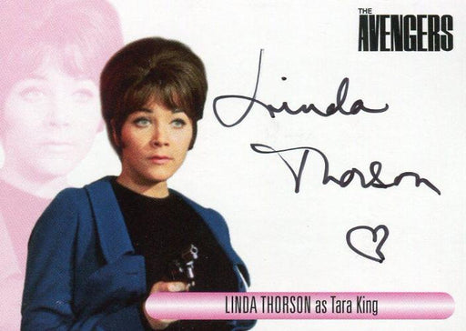 Avengers TV Women Linda Thorson as Tara King Autograph Card WALT   - TvMovieCards.com