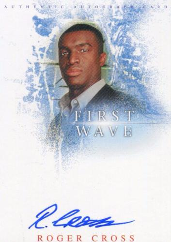 First Wave Roger Cross as Joshua Autograph Card A4 Front