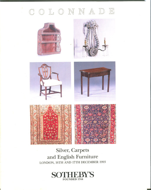 Sothebys Auction Catalog Dec 16 & 17 1993 Silver, Carpets and English Furniture   - TvMovieCards.com