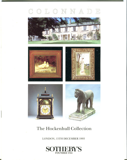 Sothebys Auction Catalog December 15 1993 The Hockenhull Collection   - TvMovieCards.com