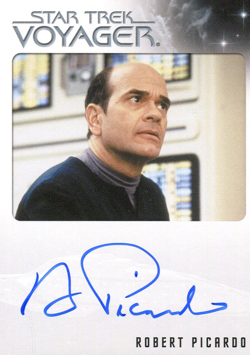 Star Trek Voyager Heroes & Villains Autograph Card Robert Picardo as The Doctor   - TvMovieCards.com